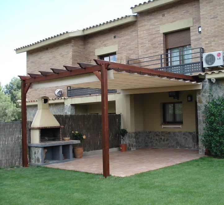 P rgola tensada toldo en barcelona resistente para jard n - Pergola de jardin ...
