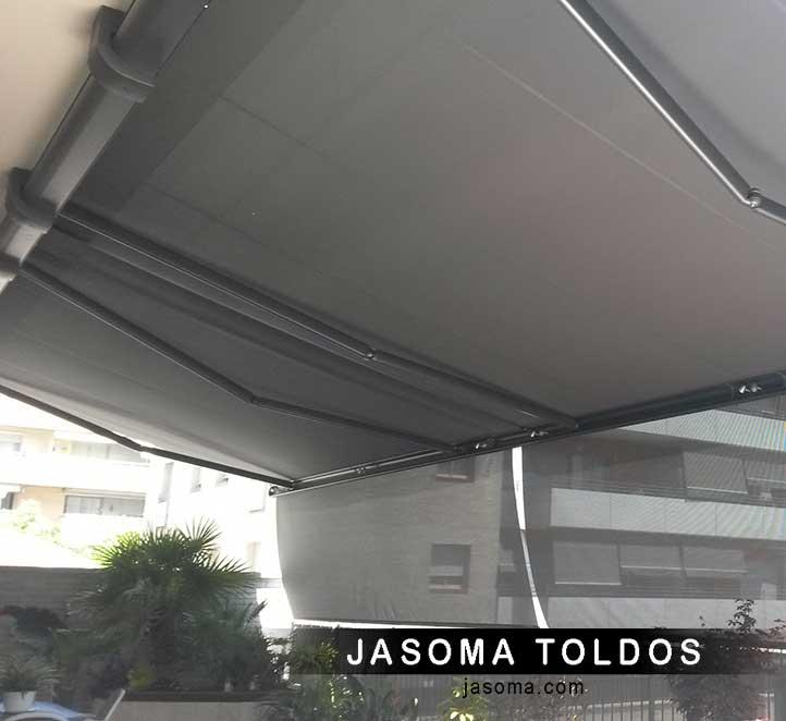 toldo cofre 6000 instalación en pisos