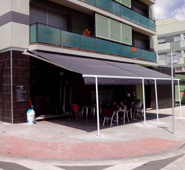toldos monobloc instalación toldos de calidad en un bar
