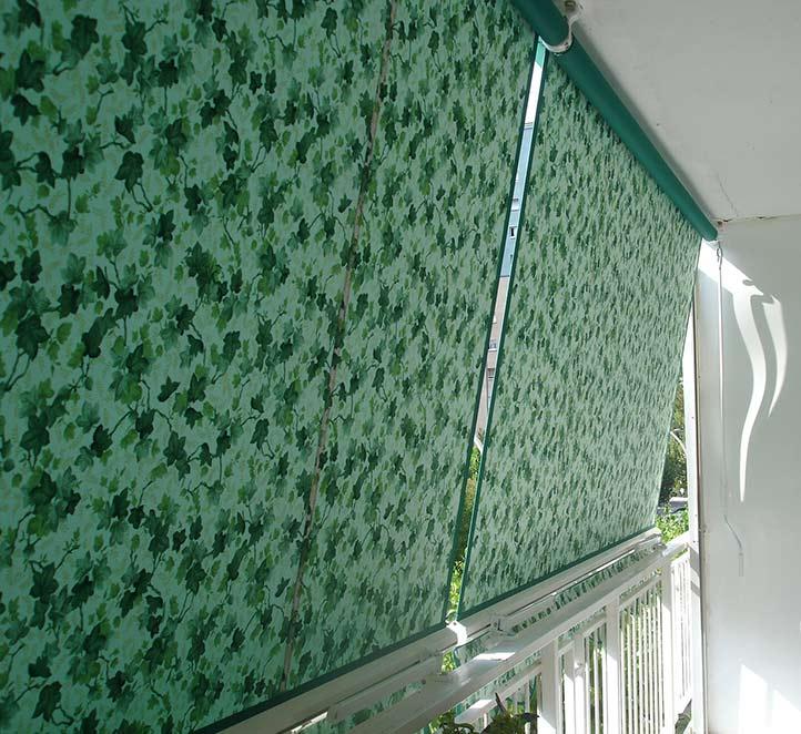 toldos telón colocación en el balcón de un piso