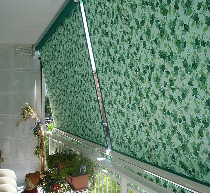 toldos telón otra instalación en la terraza de un piso