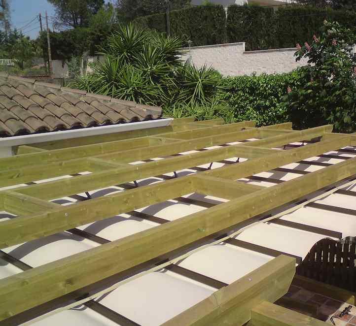 vista aérea de nuestras pérgolas de madera