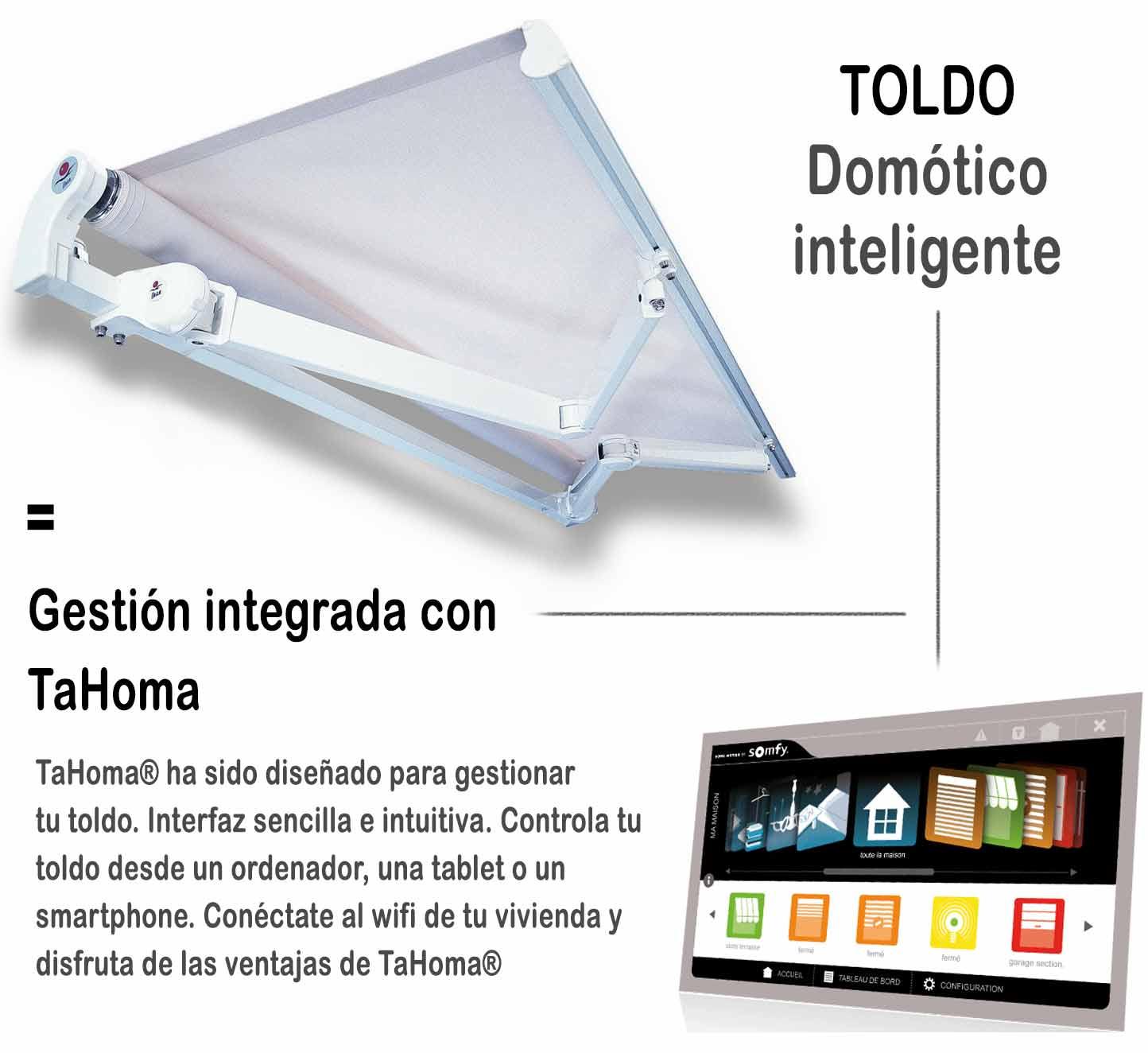 automatismos para toldos sistema integrado con tahoma