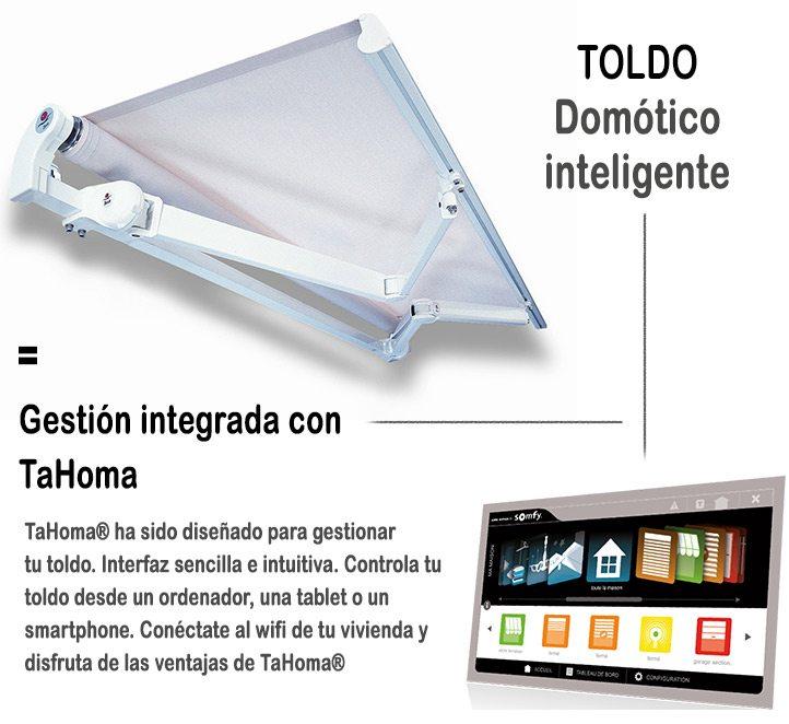 Automatismos para toldos. Toldos en Barcelona y sistema integrado Tahoma