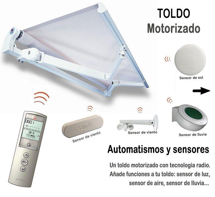 automatismos para toldos y sensores inteligentes toldos Barcelona