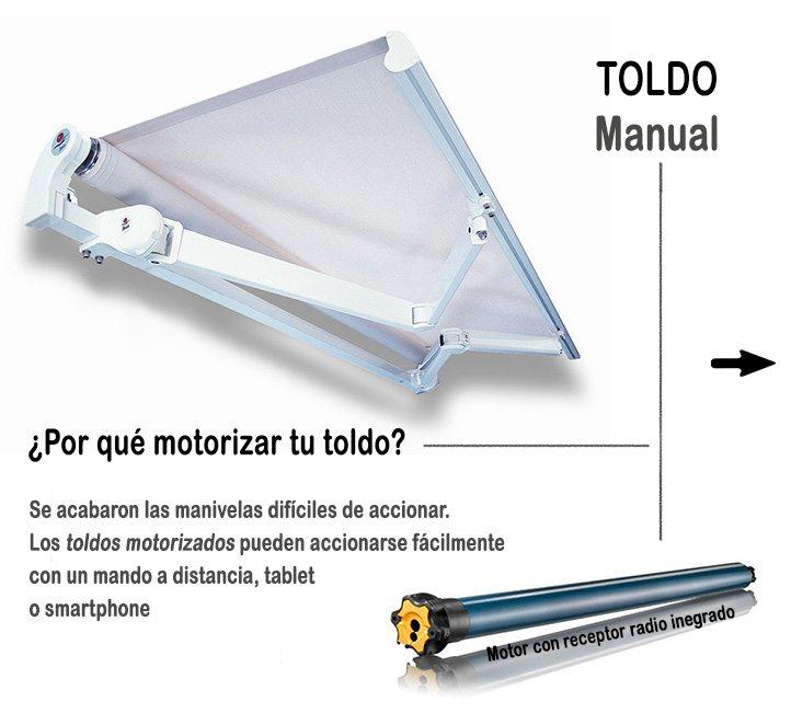 automatismos para toldos motoriza tu toldo manual
