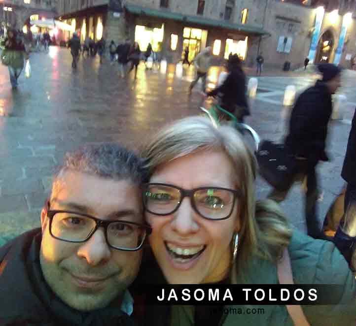 el equipo de Jasoma durante la visita a Bolonia