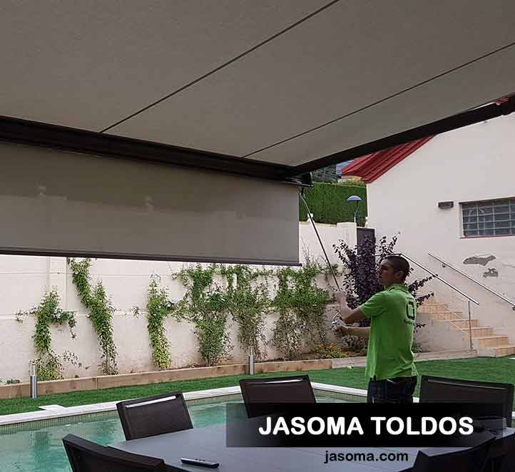 toldo cofre 6000 con supersombra manual